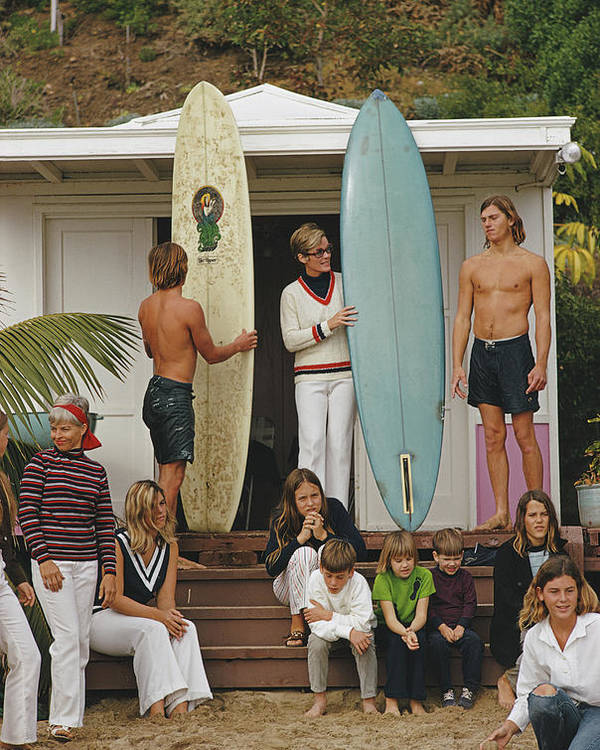 Laguna Beach Poster featuring the photograph Laguna Beach Surfers by Slim Aarons