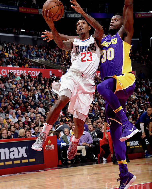 Nba Pro Basketball Poster featuring the photograph Los Angeles Lakers V La Clippers by Andrew D. Bernstein
