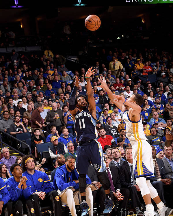 Nba Pro Basketball Poster featuring the photograph Memphis Grizzlies V Golden State by Noah Graham