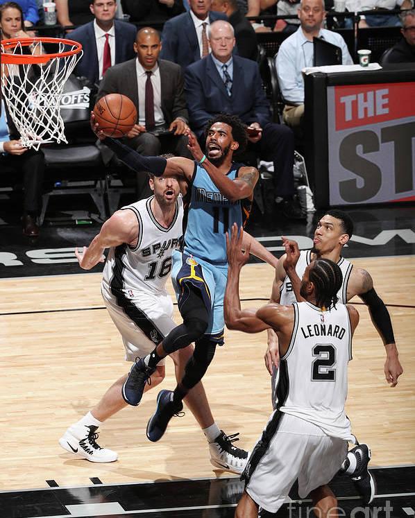 Playoffs Poster featuring the photograph Memphis Grizzlies V San Antonio Spurs - by Joe Murphy