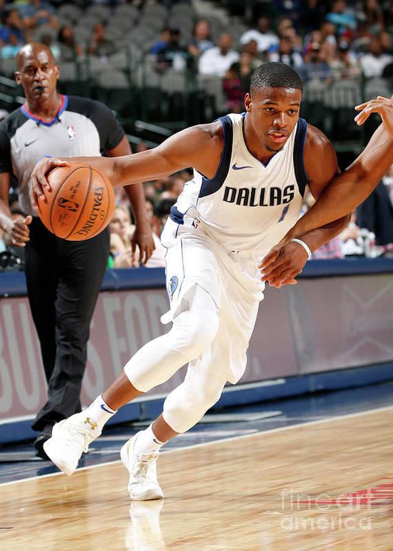 Nba Pro Basketball Poster featuring the photograph Milwaukee Bucks V Dallas Mavericks by Glenn James