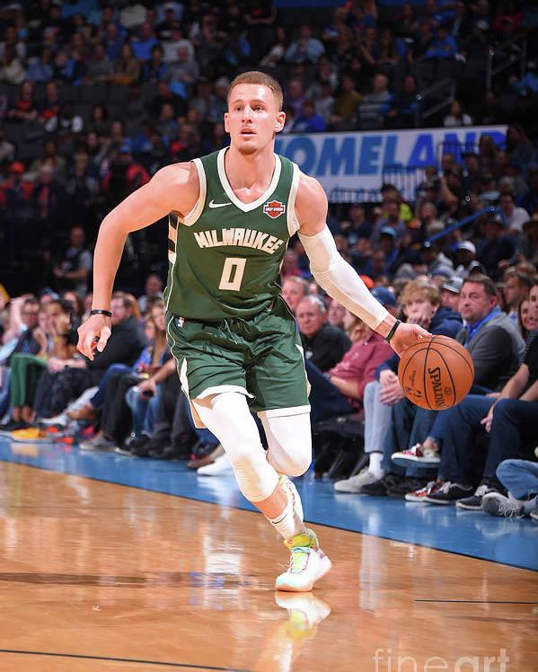 Nba Pro Basketball Poster featuring the photograph Milwaukee Bucks V Oklahoma City Thunder by Bill Baptist