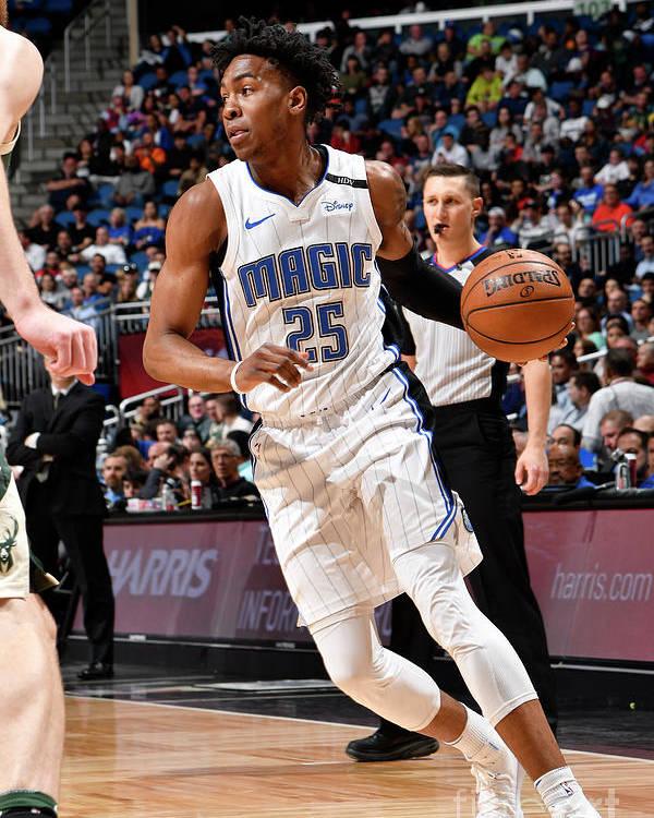 Nba Pro Basketball Poster featuring the photograph Milwaukee Bucks V Orlando Magic by Fernando Medina