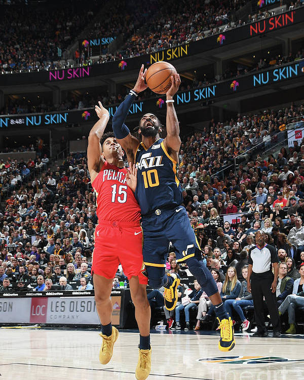 Nba Pro Basketball Poster featuring the photograph New Orleans Pelicans V Utah Jazz by Noah Graham