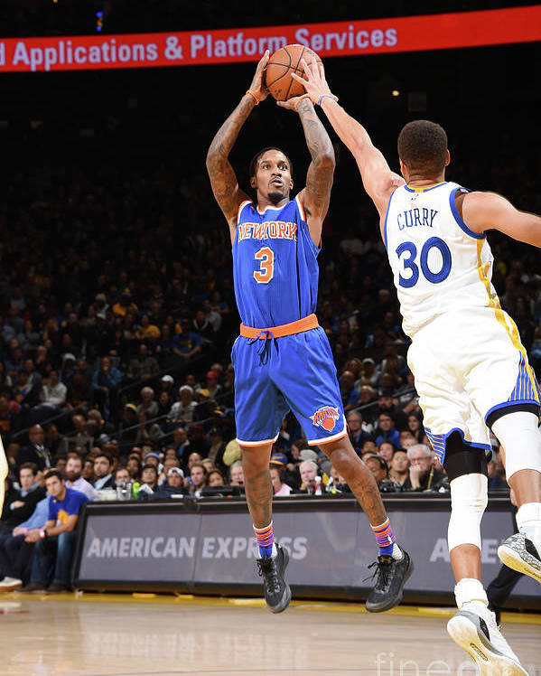 Nbaps Poster featuring the photograph New York Knicks V Golden State Warriors by Andrew D. Bernstein