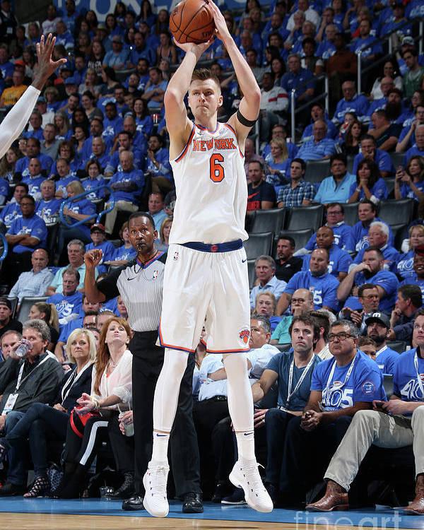 Nba Pro Basketball Poster featuring the photograph New York Knicks V Oklahoma City Thunder by Layne Murdoch