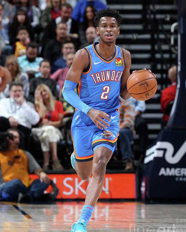 Nba Pro Basketball Poster featuring the photograph Oklahoma City Thunder V Utah Jazz by David Sherman