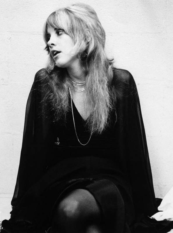 Music Poster featuring the photograph Photo Of Stevie Nicks And Fleetwood Mac by Fin Costello