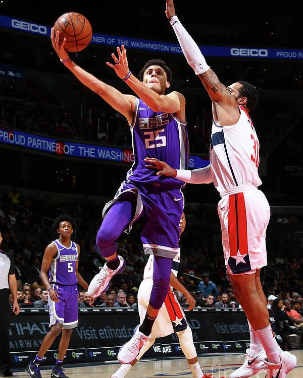 Nba Pro Basketball Poster featuring the photograph Sacramento Kings V Washington Wizards by Ned Dishman