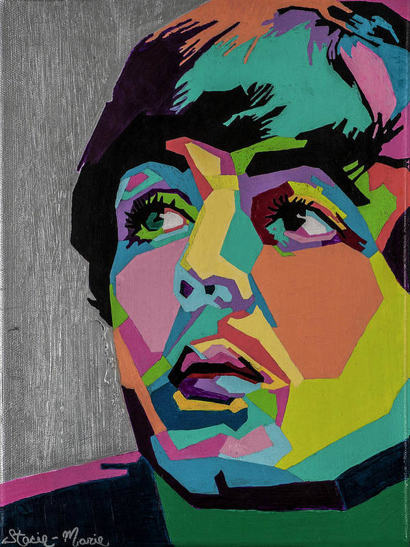 Paul Mccartney Poster featuring the painting Sir Paul McCartney by Stacie Marie