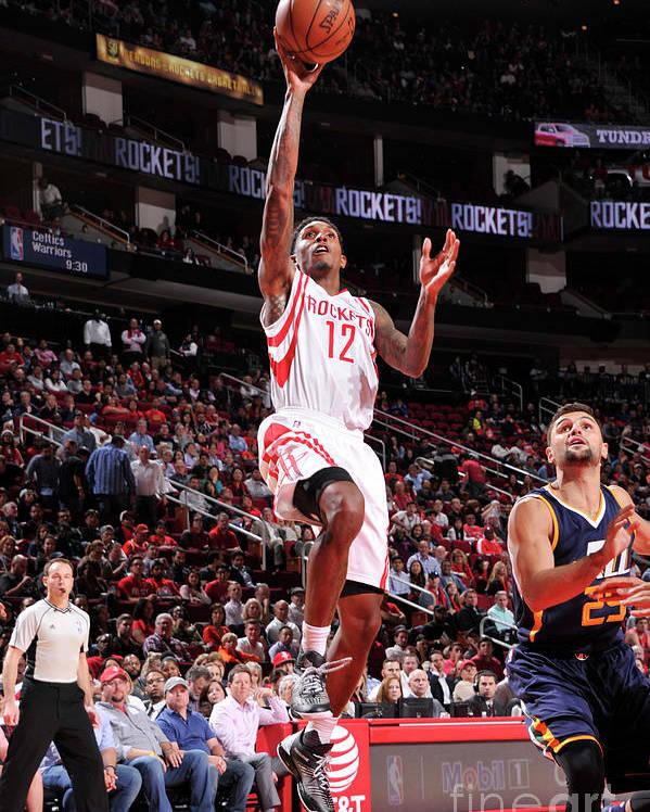 Nba Pro Basketball Poster featuring the photograph Utah Jazz V Houston Rockets by Bill Baptist