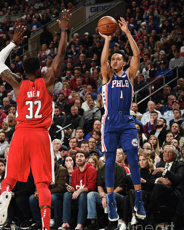 Nba Pro Basketball Poster featuring the photograph Washington Wizards V Philadelphia 76ers by David Dow