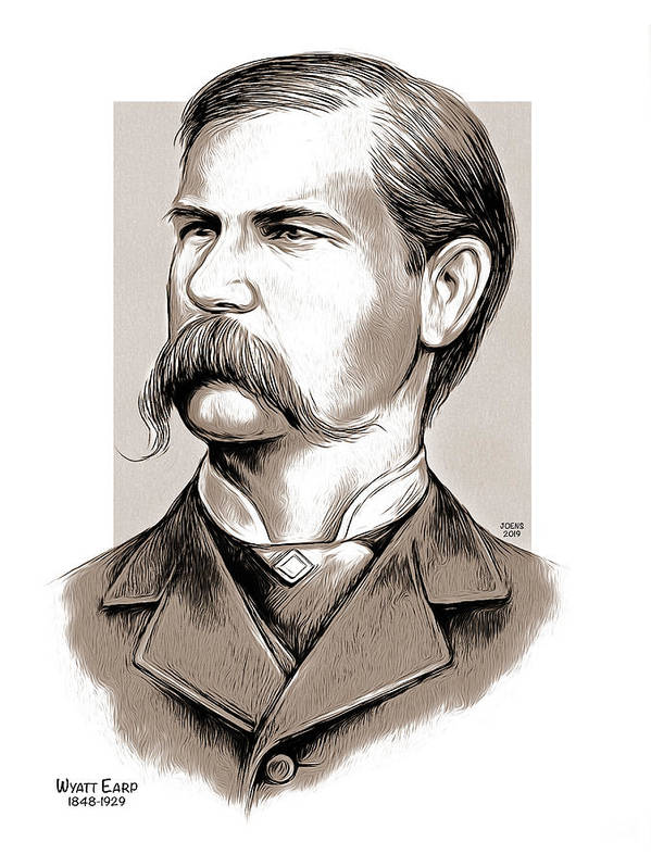 Wyatt Earp Poster featuring the mixed media Wyatt Earp by Greg Joens