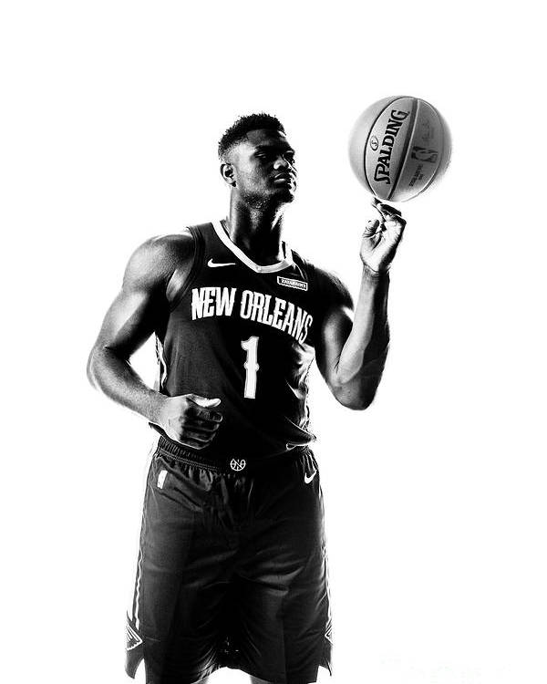 Nba Pro Basketball Poster featuring the photograph Zion Williamson by Sean Berry