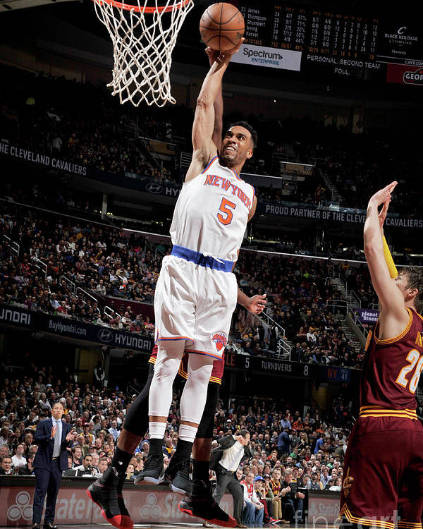 Nba Pro Basketball Poster featuring the photograph New York Knicks V Cleveland Cavaliers by David Liam Kyle