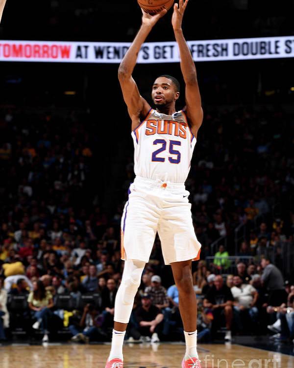 Nba Pro Basketball Poster featuring the photograph Phoenix Suns V Denver Nuggets by Garrett Ellwood