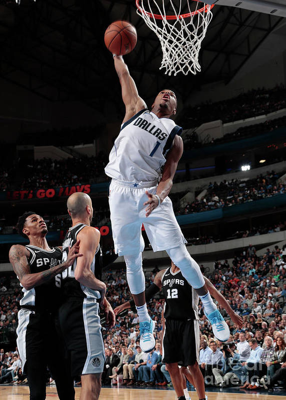 Nba Pro Basketball Poster featuring the photograph San Antonio Spurs V Dallas Mavericks by Glenn James