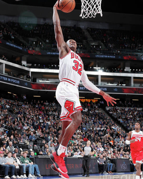 Chicago Bulls Poster featuring the photograph Chicago Bulls V Sacramento Kings by Rocky Widner