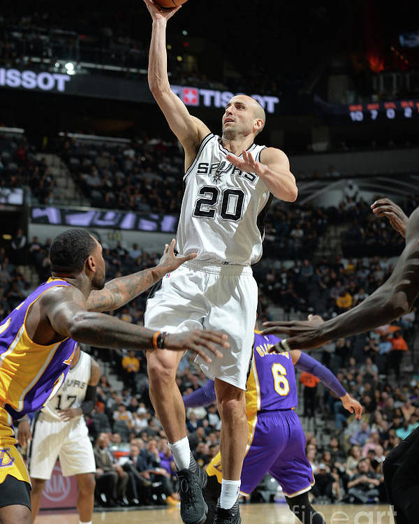 Nba Pro Basketball Poster featuring the photograph Los Angeles Lakers V San Antonio Spurs by Mark Sobhani