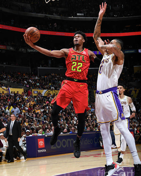 Nba Pro Basketball Poster featuring the photograph Atlanta Hawks V Los Angeles Lakers by Andrew D. Bernstein
