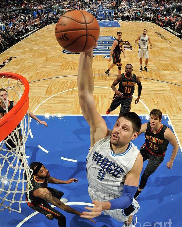 Nba Pro Basketball Poster featuring the photograph Atlanta Hawks V Orlando Magic by Fernando Medina