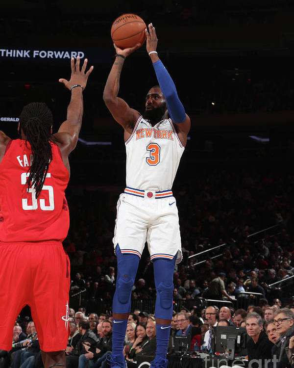 Tim Hardaway Jr. Poster featuring the photograph Houston Rockets V New York Knicks by Nathaniel S. Butler