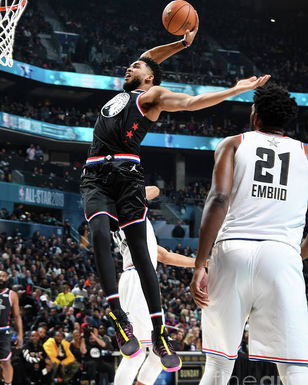 Nba Pro Basketball Poster featuring the photograph 2019 Nba All-star Game by Andrew D. Bernstein