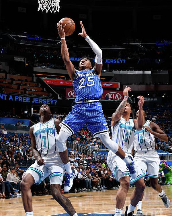 Nba Pro Basketball Poster featuring the photograph Charlotte Hornets V Orlando Magic by Fernando Medina