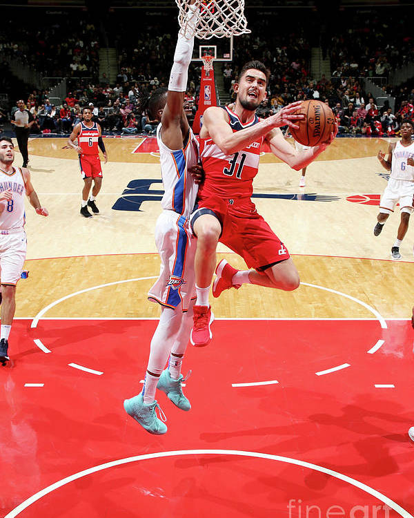 Nba Pro Basketball Poster featuring the photograph Oklahoma City Thunder V Washington by Ned Dishman