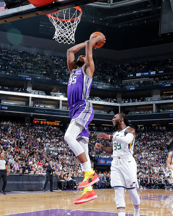 Nba Pro Basketball Poster featuring the photograph Utah Jazz V Sacramento Kings by Rocky Widner