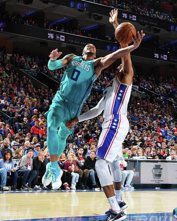 Nba Pro Basketball Poster featuring the photograph Charlotte Hornets V Philadelphia 76ers by Jesse D. Garrabrant