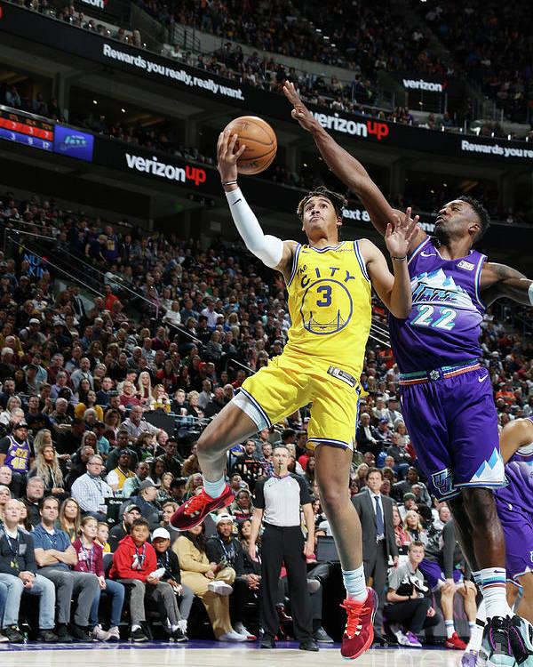 Nba Pro Basketball Poster featuring the photograph Golden State Warriors V Utah Jazz by Melissa Majchrzak