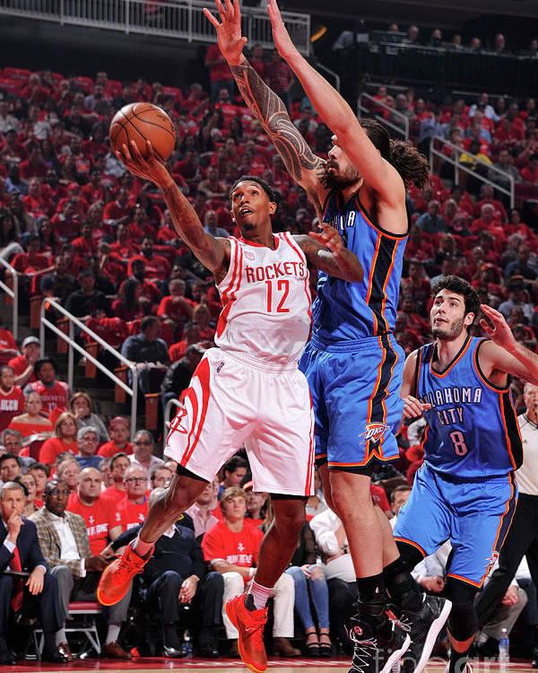Playoffs Poster featuring the photograph Oklahoma City Thunder V Houston Rockets by Bill Baptist