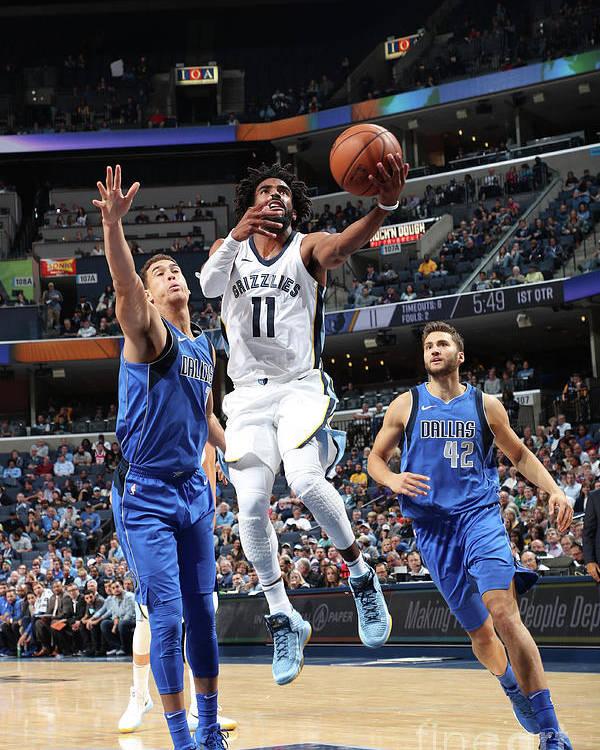 Nba Pro Basketball Poster featuring the photograph Dallas Mavericks V Memphis Grizzlies by Joe Murphy