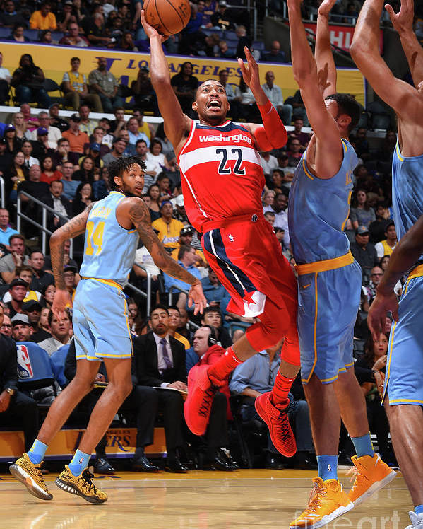 Nba Pro Basketball Poster featuring the photograph Washington Wizards V Los Angeles Lakers by Andrew D. Bernstein