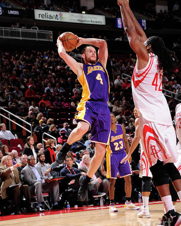Nba Pro Basketball Poster featuring the photograph Los Angeles Lakers V Houston Rockets by Bill Baptist