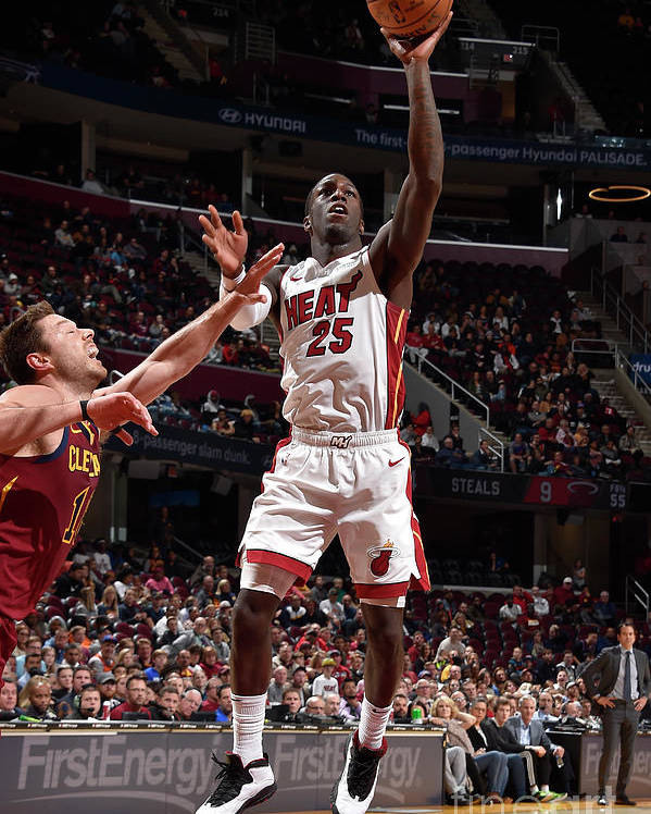 Nba Pro Basketball Poster featuring the photograph Miami Heat V Cleveland Cavaliers by David Liam Kyle