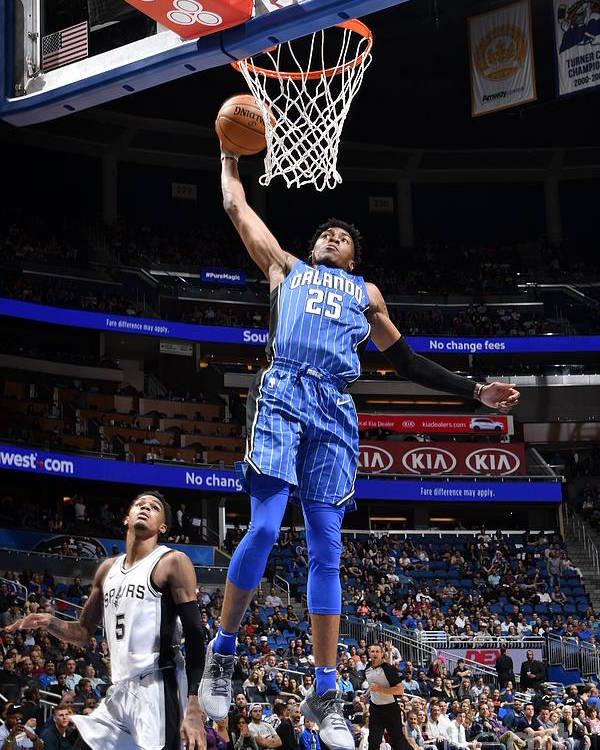 Nba Pro Basketball Poster featuring the photograph San Antonio Spurs V Orlando Magic by Fernando Medina