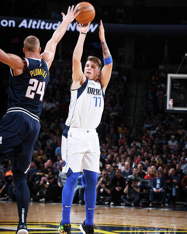 Nba Pro Basketball Poster featuring the photograph Dallas Mavericks V Denver Nuggets by Garrett Ellwood