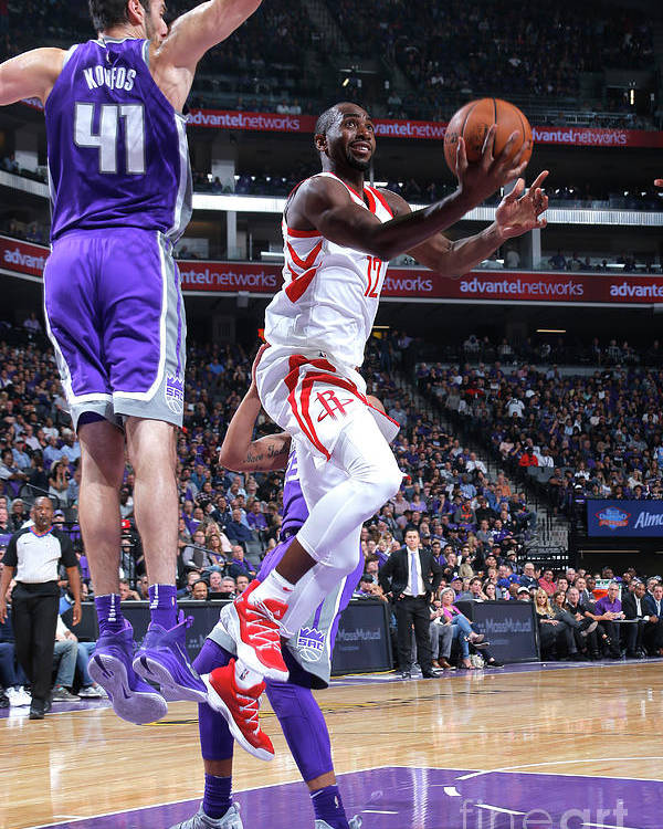 Nba Pro Basketball Poster featuring the photograph Houston Rockets V Sacramento Kings by Rocky Widner