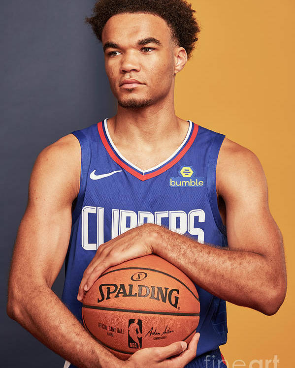 Jerome Robinson Poster featuring the photograph 2018 Nba Rookie Photo Shoot by Jennifer Pottheiser