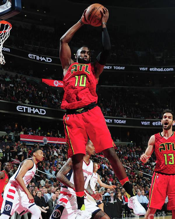 Tim Hardaway Jr. Poster featuring the photograph Atlanta Hawks V Washington Wizards - by Scott Cunningham