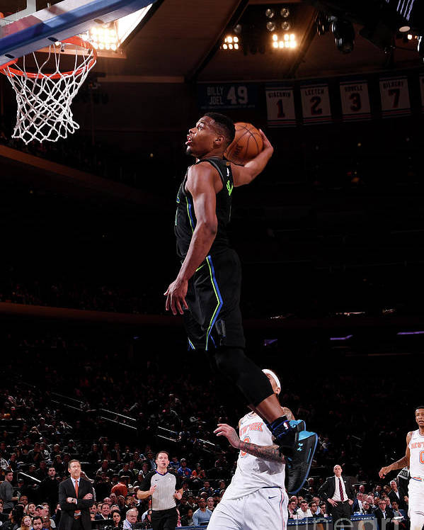 Sports Ball Poster featuring the photograph Dallas Mavericks V New York Knicks by Nba Photos