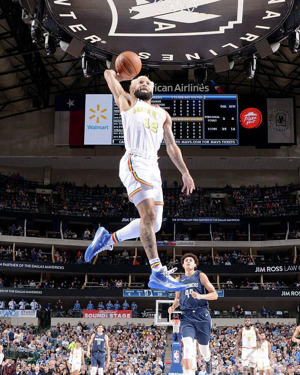 Nba Pro Basketball Poster featuring the photograph Golden State Warriors V Dallas Mavericks by Glenn James