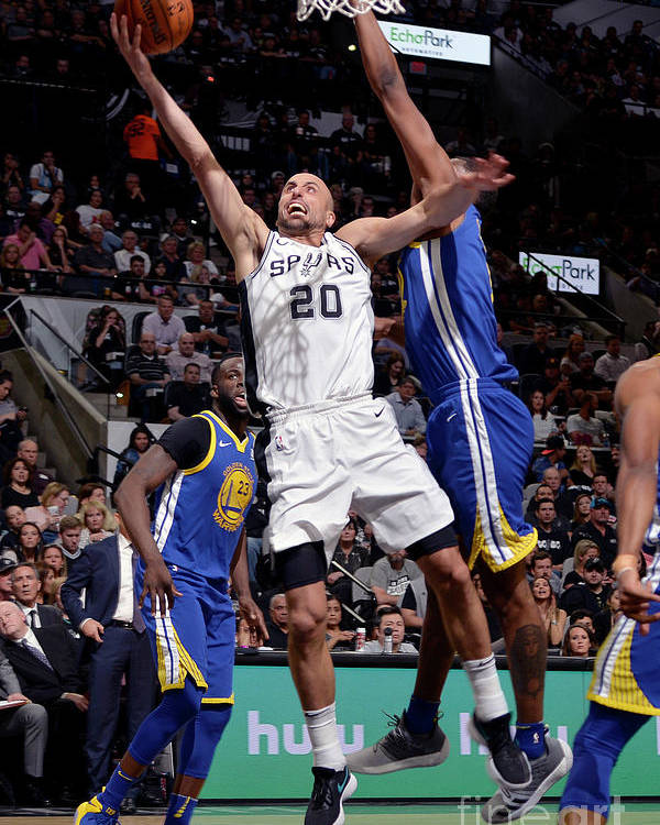 Playoffs Poster featuring the photograph Golden State Warriors V San Antonio by Mark Sobhani
