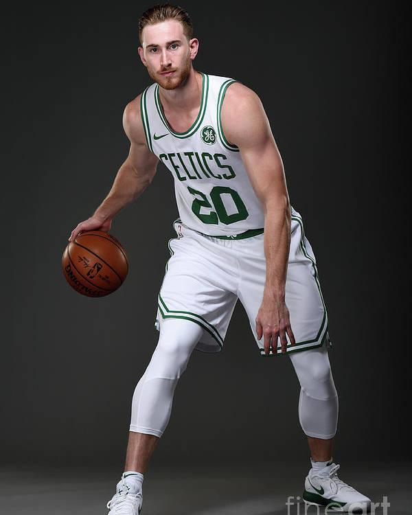 Nba Pro Basketball Poster featuring the photograph Gordon Hayward Boston Celtics Portraits by Brian Babineau