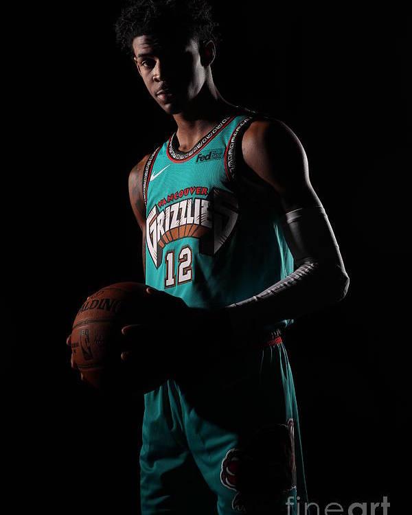 Nba Pro Basketball Poster featuring the photograph Memphis Grizzlies Portrait Shoot In by Joe Murphy