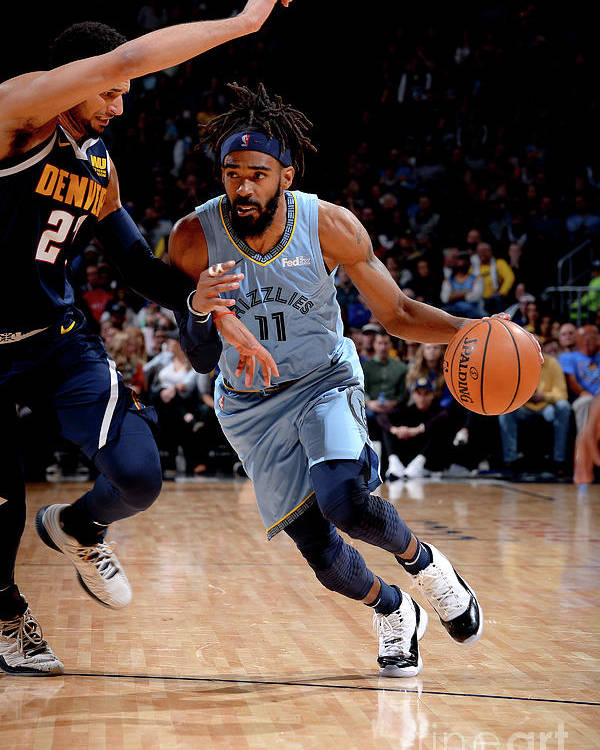 Nba Pro Basketball Poster featuring the photograph Memphis Grizzlies V Denver Nuggets by Bart Young