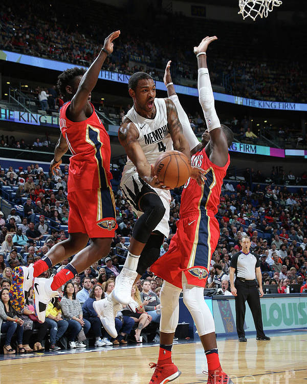 Smoothie King Center Poster featuring the photograph Memphis Grizzlies V New Orleans Pelicans by Layne Murdoch Jr.