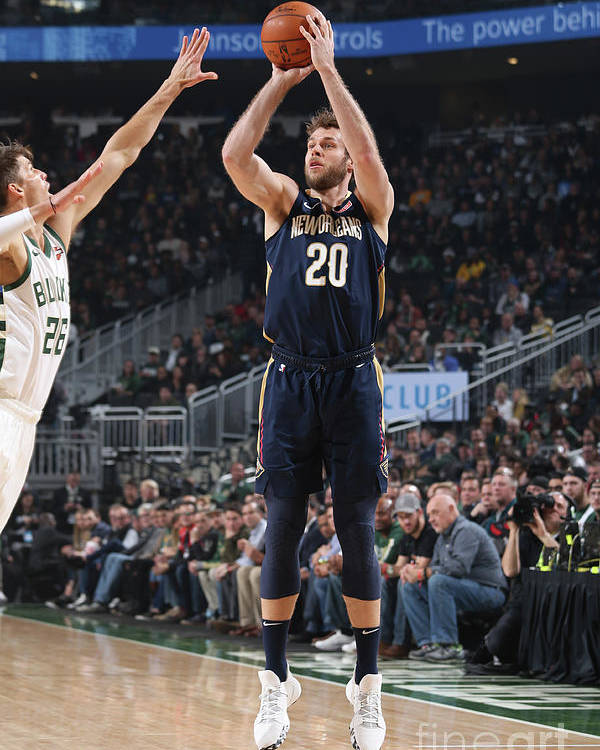 Nba Pro Basketball Poster featuring the photograph New Orleans Pelicans V Milwaukee Bucks by Gary Dineen